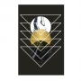 Quadro Geométrico Preto e Dourado Triângulos - Tela Única