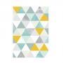 Quadro Geométrico Triângulos Coloridos Amarelo e Azul - Tela Única