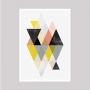 Quadro Geométrico Triângulos Coloridos  - Tela Única