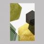 Quadro Geométrico Verde e Dourado 1 - Tela Única