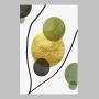 Quadro Geométrico Verde e Dourado 2 - Tela Única