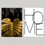 Quadro Home Costela de Adão Luxo -  Kit 2 telas