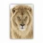 Quadro  Leão Creme Vertical - Tela Única