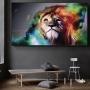 Quadro Leão Da Tribo de Judá Cores Vibrantes Horizontal - Tela Única