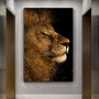 Quadro Leão Ouro - Tela Única
