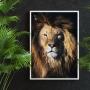 Quadro Leão Rei da Selva - Tela Única