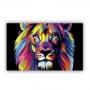 Quadro  Leão Yeshua Color - Tela Única