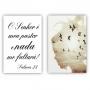 Quadro Liberdade Salmos 23 Mulher Passáros  -  Kit 2 telas