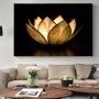 Quadro Lotus Gold - Tela Única
