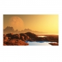 Quadro Luar no Deserto Foto - Tela Única