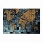 Quadro Mapa Mundi Luxo - Tela Única