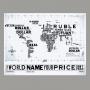 Quadro Mapa Mundi Mercado Financeiro- Tela Única