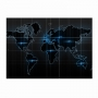 Quadro Mapa Mundi Moderno Luxo - Tela Única