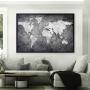 Quadro Mapa Mundi Money - Tela Única