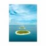 Quadro Mar e Ilhas - Tela Única
