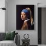Quadro Moça com Brinco de Pérola de Johannes Vermeer - Tela Única