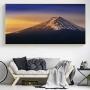 Quadro Montanha Neve Foto - Tela Única