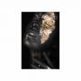 Quadro Mulher Black and Gold Preto e Dourado 1 - Tela Única