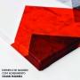 Quadro Mulher Rosa Vermelha e Preto Horizontal - Tela Única