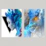 Quadro Mulher Vibrante Impacto de Cores -  Kit 2 telas