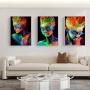 Quadro Mulheres Neon Transcendental - Kit 3 telas