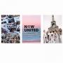 Quadro Now United - Kit 3 telas
