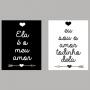 Quadro O Amor Todinho - Kit 2 telas