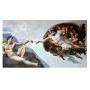 Quadro O teto da Capela Cistina Pintado por Michelangelo - Tela Única