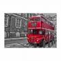 Quadro Ônibus Vermelho e Preto - Tela Única