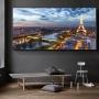 Quadro Paris Anoitecer- Tela Única
