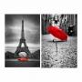 Quadro Paris e Guarda Chuva -  Kit 2 telas