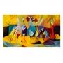 Quadro Reprodução Alternativa Picasso Abstrato Aplicado de Kandinsky - Tela Única
