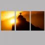 Quadro Rio De Janeiro Pôr do Sol - Kit 3 telas