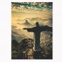 Quadro Rio De Janeiro Vertical Luxo - Tela Única