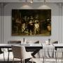 Quadro Ronda Noturna de Neerlandês Rembrandt - Tela Única