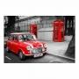 Quadro Ruas de Londres Carro Vintage- Tela Única