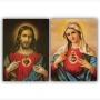 Quadro Sagrado Coração Católico -  Kit 2 telas