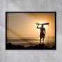 Quadro Surf Por do Sol - Tela Única