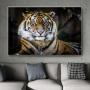 Quadro Tigre Imponente Horizontal - Tela Única