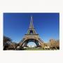 Quadro Vista Paris Torre Eiffel - Tela Única