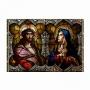 Quadro Vitral Jesus e Maria - Tela Única