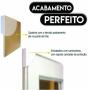Quadro Viva Sonhe e Ame Flor Preto e Dourado - Kit 3 telas