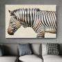 Quadro Zebra Horizontal Preto e Branco - Tela Única