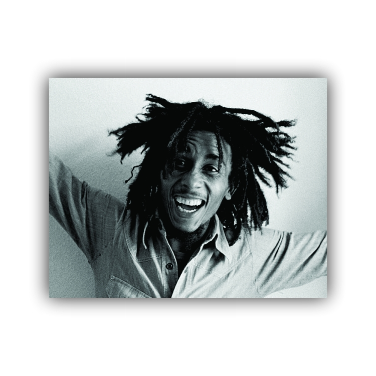 Quadro Bob Marley Preto e Branco - Tela Única