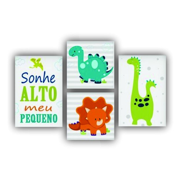 Kit Dinossauro Baby Boy - 4 telas
