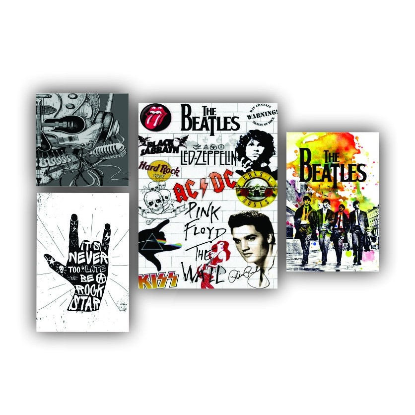 Kit Rock Beatles - 4 telas