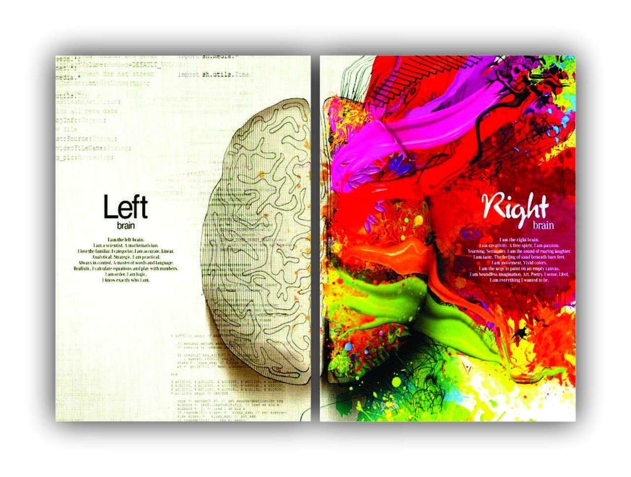 Mente Humana Criativa Cor Intensa -  Kit 2 telas