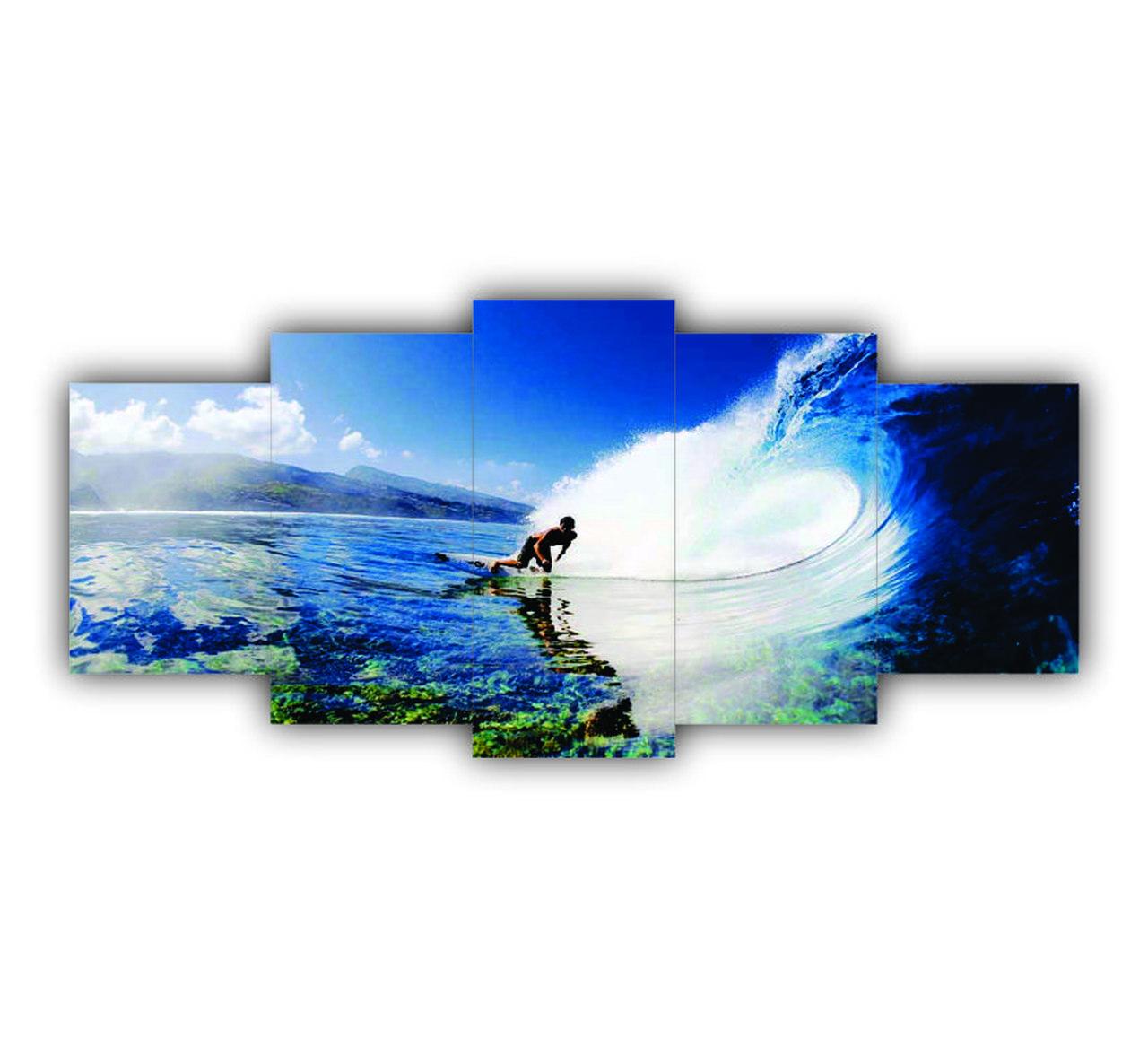 Mosaico Decorativo Surf Esporte Radical - 5 Telas