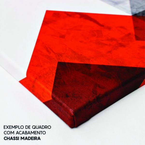 Quadro Abstrato Geométrico Azul Triângulos Moderno - Kit 3 telas