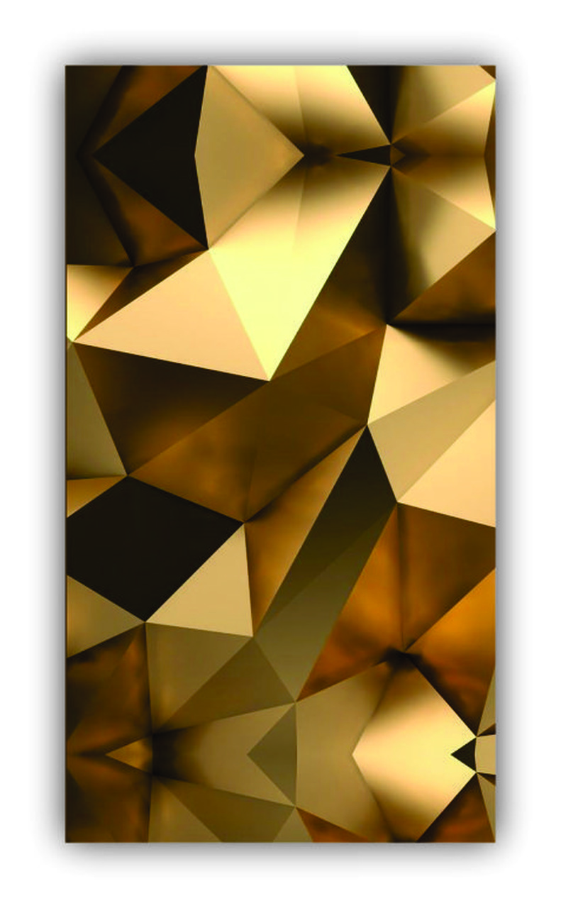 Quadro Abstrato Luxo 3d Gold - Tela Única
